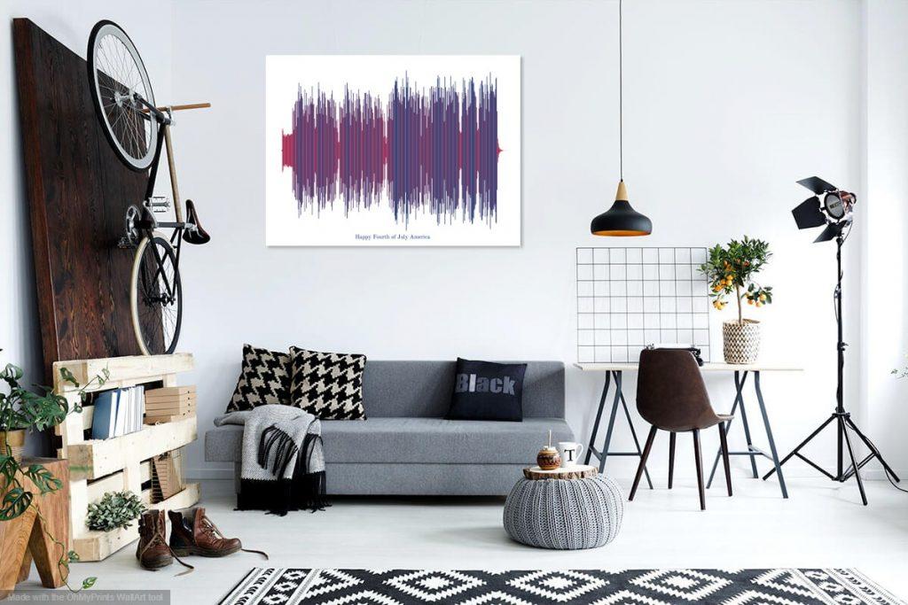 tableau artistique d'ondes sonores Soundviz
