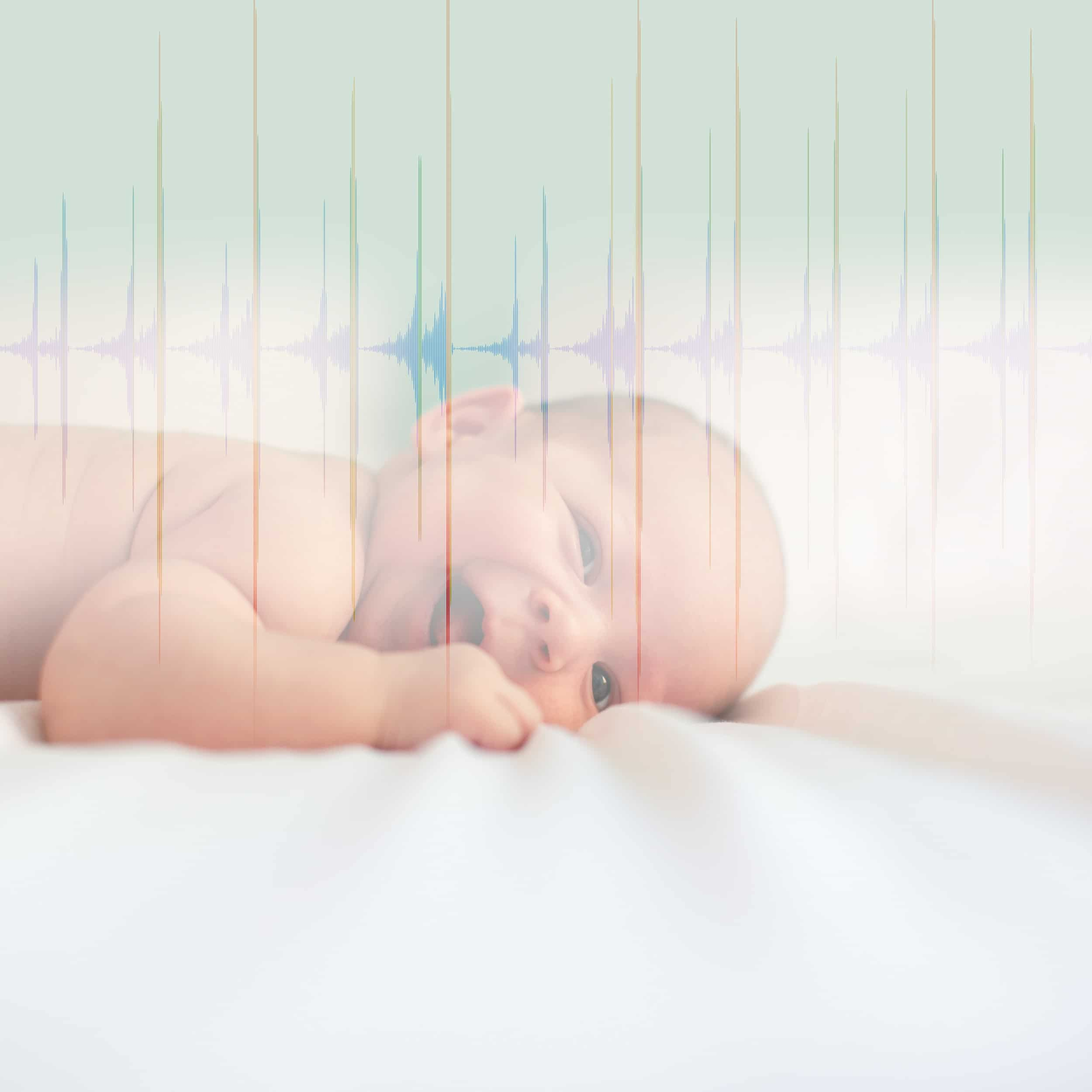 Ondes sonores battement de cœur bébé