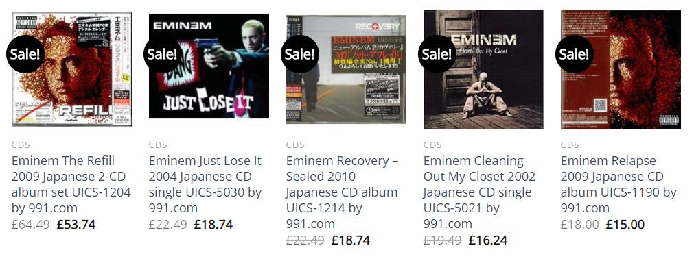 Soundorabilia Album best of Eminem