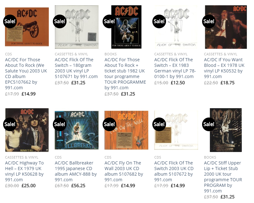 Soundorabilia AC/DC collection